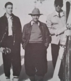 Bob Carter with Enrico Fermi and David Inglis