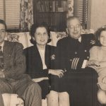 Jane Hukill with brother, mother and father